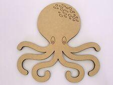 One MDF Wooden Marine Octopus Shape 20cm High Kids Craft DIY Paint Mobile