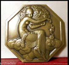 1925 RARE ART DECORATIFS EXPOSITION MEDAL by Turin NUDE