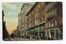 CANADA carte postale ancienne TORONTO  8 looking east on king street