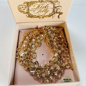 SIGNED KIRKS FOLLY CRYSTAL/GOLD PLATED NECKLACE/NECKLACES (boxed)