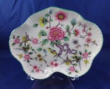 Vintage James Kent Old Foley CHINESE ROSE Floral w/Birds  Scalloped Tray Plate