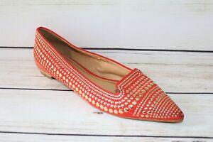 ENZO ANGIOLINI Brand Women's Coral Gold Ballet Flats Size 7