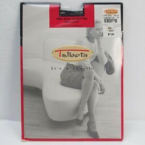 Vintage Talbots Panty Hose Nylons Size C Navy Sheer Control Top Lycra USA
