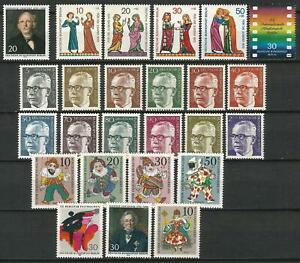 Germany Berlin 1970 MNH Complete Year Set Commemorative and Definitive Stamps