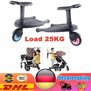 Buggy Kinderwagen Board Buggyboard mit Sitz  Trittbrett Universal Load 25KG Neu
