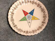 "Eastern Star Lodge 10"" diameter plate - Vintage Masonic by Sanders Mfg USA"