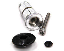 3k Carbon Fibre Headset Top Cap & Bike Fork Expander Bung 1 1/8 Replaces Starnut