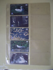 SEA BIRDS Complete Set 5 Different Phone Cards from Brazil