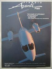 5/1990 PUB RINALDO PIAGGIO AVANTI P180 ITALIAN EXECUTIVE AIRCRAFT ORIGINAL AD