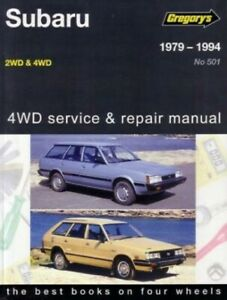 Subaru 1979-1994 2WD and 4WD 1600cc and 1800cc Gregory's Service Repair Manual