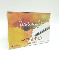 Fabriano Watercolor Paper Pad Postcard Hot Press 300gsm A6 50% Cotton 15 Sheets