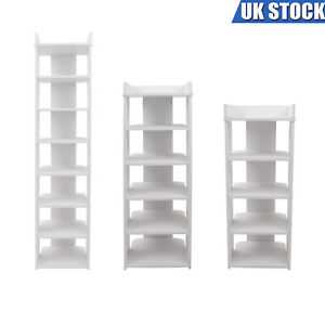 5/6/7/8 Tier Shoe Rack Storage Single Row Shelf Cabinet Organiser PVC Wood Unit