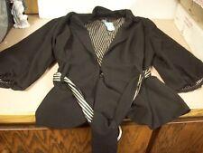 cb5bc0f35ba Women s Torrid Black Ruched Sleeve Career Jacket SIZE 2