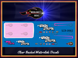 "Hot Wheels '55 Chevy Panel Van  ""Candy Striper"" Custom Decal SCR-0982"