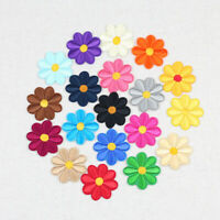 10/100Pcs Daisy Flower Patches Embroidered Iron-On/Sew-On DIY Clothes Applique