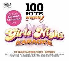 GIRLS NIGHT KARAOKE + ON SCREEN LYRICS NEW 5 CD G 100 SONGS FOR KARAOKE MACHINES