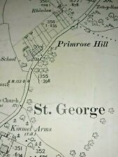 Old Antique Ordnance Map 1913 Denbighshire V.9 St. George Village & Morfa ...