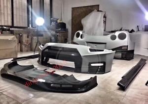 7PCS Carbon Fiber Car Exterior kit Cover For Nissan Skyline R35 GTR