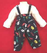 """Blue Print 4X11"""" (laying flat) Doll Clothes Jumpsuit"""