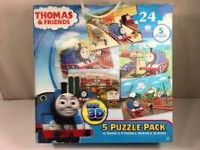 Thomas & Friends 3 D 5 Puzzles Pack Clean Nice Complete- Cardinal 24 Pieces Each