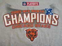 CHICAGO BEARS  VINTAGE 2005 NFC NORTH CHAMPIONS MEN'S MEDIUM GRAY TEE SHIRT