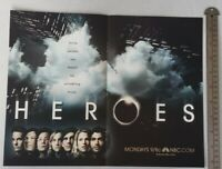 Heroes Tv Show RARE Print Advertisement