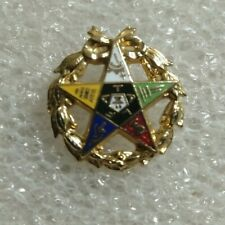 "Vintage fraternal OES Order of the Eastern Star 25 Year Gold Tone 3//4/"" Pendant"