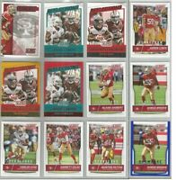 San Francisco 49ers 12 card 2016 Score insert & parallel lot-all different