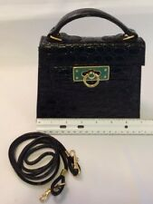 """Sweet Little Shoulder Bag, Patent Leather Moc Croc! Small 6""""T by 7""""W"""