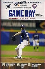 ZACH DAVIES ON COVER MILWAUKEE BREWERS 2017 OFFICIAL GAMEDAY PROGRAM ISSUE #16