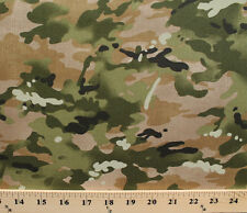 Because of the Brave Camouflage Green Cotton Fabric Print by the Yard D563.04