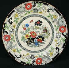 "COALPORT china CANTON E55H pattern DINNER PLATE 10-1/2"" crazing and trim flakes"