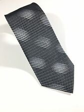 "Concepts By Claiborne Hand Made Black Neck Tie - Sz W 3 5/8"" L 58"" 100% Silk"