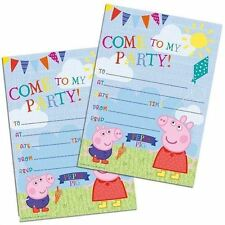 Peppa Pig Partyware 20 X Party Invitations With Envelopes