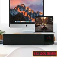 LED Surround Sound Bar System Subwoofer Wireless Bluetooth Soundbar Home Theatre