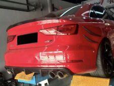 In puro carbonio diffusore posteriore Grembiule approccio posteriore per AUDI a3 e s3 BERLINA 2014