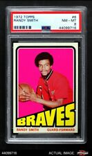 1972 Topps #8 Randy Smith  Braves-BskB SUNY Buffalo State College PSA 8 - NM/MT