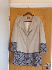 PER UNA Women's Beige Natural Mix Knee Length Coat Jacket Size 10 (12) - NEW £99