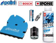 Kit Entretien Filtre Polini Bougie Bosch Huile Ipone  Piaggio X9 125 SL 2003