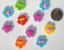 Flowers Cherries Resin Flatbacks bows embellishments scrapbooking craft glue on
