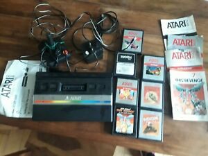 Atari 2600 sega console and games