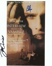 Tom Cruise Brad Pitt Signed Autographed Interview Vampire 8 x 10 Color Photo