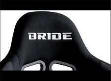 2x BRIDE Flock seat logos, Easy iron-on. Bride, Nismo, jdm, drift