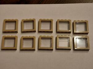 10 Stück Eisenbahn Fenster zum Nachbau 10194 Emerald Night in tan NEUWARE