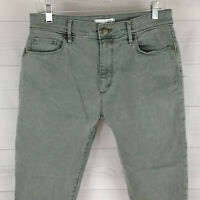 Ann Taylor LOFT Modern HIGH Waist Womens Size 6 Stretch Green Skinny Ankle Jeans
