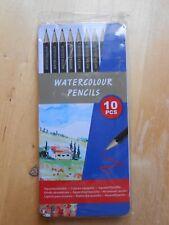 10er Set Aquarellstifte Metallbox Malen Zeichnen Blechdose Box