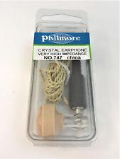 Hi Impedance Crystal Earphone - 3.5mm Phone Plug - 7' Cord - Radio - 747 / 747B