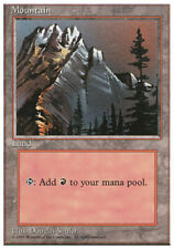 FBB Korean Mountain (Slate) ~ Moderately Played 4th Edition Fourth Foreign Black