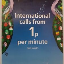 O2 Official International 02 sim card Pay as you go PAYG From 1p per Min