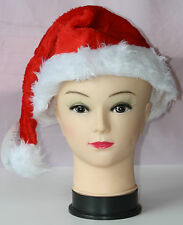 New Luxury Velvet Santa Hat with Pompon Adult Size Christmas Xmas Party Parties